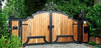 wooden gates