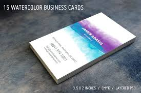 new watercolor artist business card exle