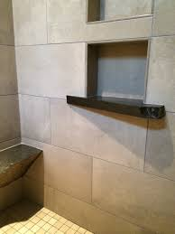 Stone shower shelf traditional