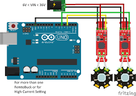femtobuck constant current led driver hookup guide v12 learn multiple femtobucks or high current mode