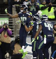 thomas rawls breaks through sets a seahawks playoff record for paul richardson celebrates his teammates after scoring a second quarter touchdown during their nfc wild
