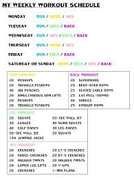 Weight Training Workout Schedule Template Weekly – Tangledbeard