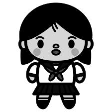 かわいい中学生の女の子の無料イラスト商用フリー オイデ43