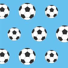 Voetbal Behang Lichtblauw