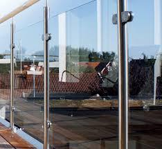 stainless steel glass clamp for railing for panels exterior v 044