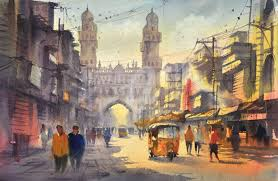painting 2016 by kis singh environmental art paper cities