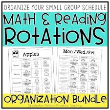 Reading Center Rotation Chart Math Reading Center Rotation Schedule Binders
