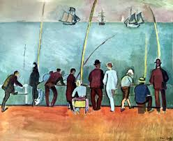 raoul dufy fishermen with lines c 1908 fine art print from museum artist