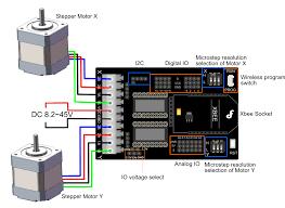 pin out diagram stepper motor shield for arduino drv8825