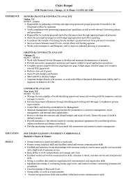 sample of contracts contracts analyst resume samples velvet jobs