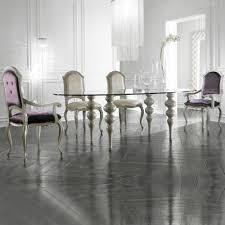 modern italian glass oval designer dining table set