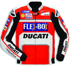 ducati alpinestar team replica men performance leather jacket