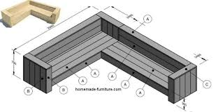 woodworking plan for a corner bench lounge style