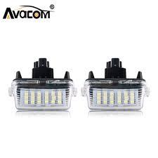Prius Pcs Light Us 9 99 40 Off Avacom 2 Pcs Canbus Led Car License Plate Lights 12v 6500k White Light For Toyota Corolla Vios Camry Levin Ez Prius Verso Ez In