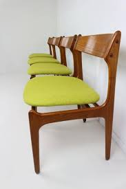 dining room chairs designed by erik buck 1967 denmark and produced the seat frame is made of solid teak wood the seat s is made of