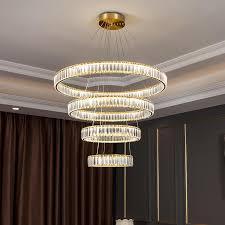modern crystal round chandelier