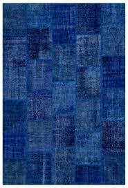 blue turkish rug blue over dyed patchwork unique rug x orange and blue turkish rug