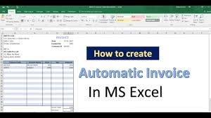 excel bill how to automatically generate invoice numbers in excel