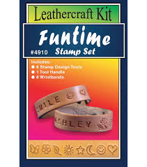 leather craft kit funtime stamp set