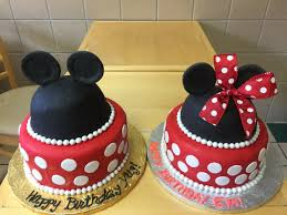 Twin Brother And Sister Mickey Mouse And Minnie Mouse Cakes Wild