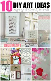appealing livelovediy diy art ideas easy ways to decorate your walls pict of cool projects for