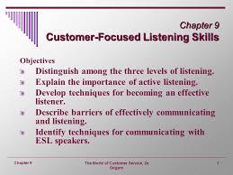 Chapter 9 Customer Focused Listening Skills Ppt Video