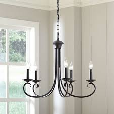 edgell 5 light candle style farmhouse chandelier