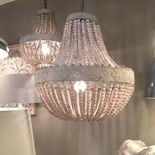 chandeliers wooden beaded chandelier for old white wooden bead chandelier with distressed metal detail