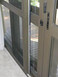bronze sliding fly screen door