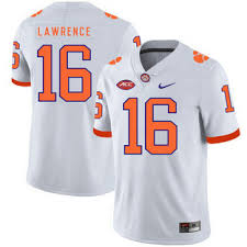 Clemson Tigers 16 Trevor Lawrence Orange Nike College