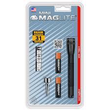 Đèn pin Maglite Mini bóng sợi đốt dùng 2 pin AAA + móc kẹp áo dạng vỉ