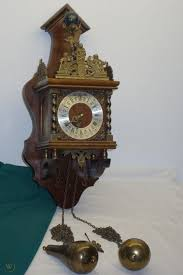 linden vintage weight driven wall clock