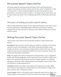 120 Good Persuasive Speech Topics And Ideas For Students