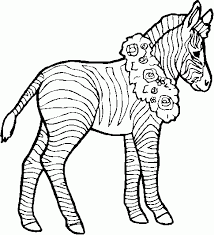 Small Picture Zebra Printable Coloring Pages 2017 Coloring Zebra Printable