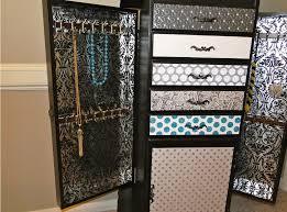 furniture large wall mounte jewelry armoire with drawers wall mount jewelry mirror armoire