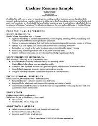 Sample Resume For A Cashier Marieclaireindia Com