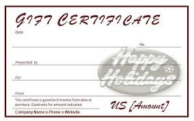 holiday template word free holiday gift certificates template