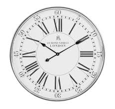 antique style silver bond street london wall clock roman numerals 68cm 13451 p jpg