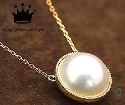 cultured mabe pearl pendant
