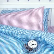 gingham duvet cover and pillowcase