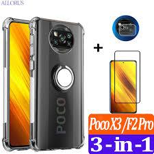 <b>Cases For Poco X3</b> NFC Transparent Funda Xiaomi PocoPhone X3 ...