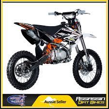 assassin a9 140cc yx dirt bike 14 17 big wheel yx engine big bore pipe