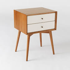 Modern night stand Design West Elm Midcentury Nightstand White Acorn West Elm
