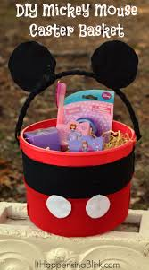these mickey mouse easter baskets are super easy to make