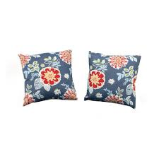 martha stewart living charlottetown washed blue outdoor throw pillow 2 pack