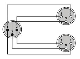 ref736 2 x xlr female xlr male wiring diagram ref736 2 x xlr female xlr male