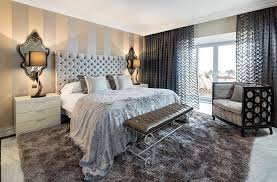 ... Vertical striped accent walls are perfect for rooms with low ceilings  [Design: Ambience Home