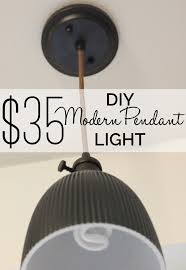 diy modern lighting. A $35 Dollar DIY Pendant Light That Is Beautifully Modern And Can Be Done In All Diy Lighting I