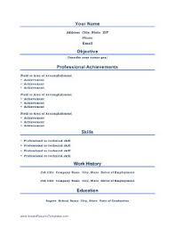 Resume Examples Professional Accomplishments Resume Ixiplay Free