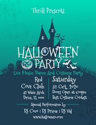 Green Party Flyer Green Halloween Party Flyer Template Postermywall